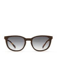 Holz-Sonnenbrille Schmetterling Schwarze Aprikose