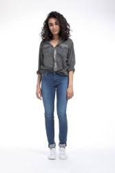 Damenjeans Mud Jeans Skinny Hazen pure blue