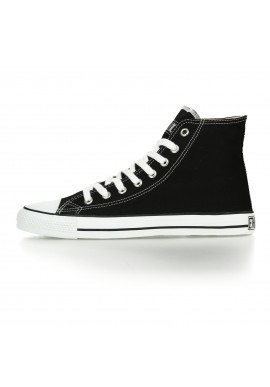 Fair Trainer White Cap Hi Cut Classic - Jet Black | Just White