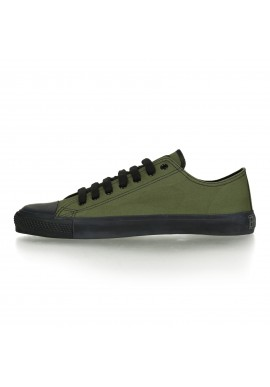 Fair Trainer Black Cap Lo Cut Classic - Camping Green | Jet Black