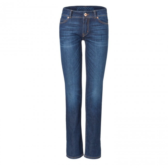 Damen-Jeans Goodsociety Straight Kyanos