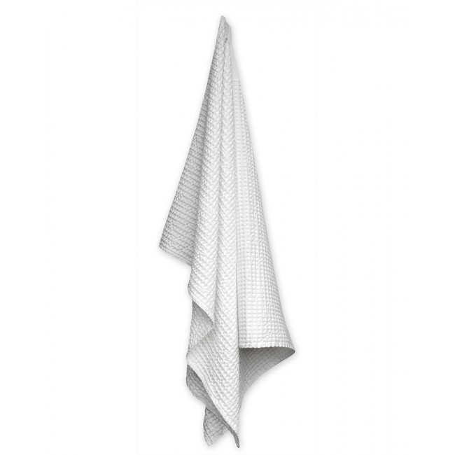 Handtuch The Organic Company Big Waffle Towel and Blanket natural white