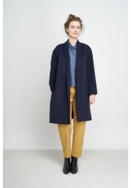 Jungle Folk Aika Coat Short navy blue