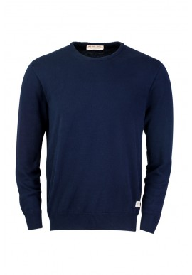 Knit Sweater ZRCL Round Neck blue