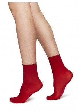 Swedish Stockings Judith Ankle Socks 2er-Pack dark red