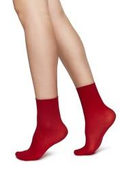 Swedish Stockings Judith Ankle Socks 2er-Pack dark red