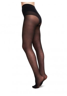 Swedish Stockings Doris Dot Tights black 40 Denier