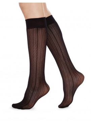 Swedish Stockings Astrid Fishnet Knee-High black