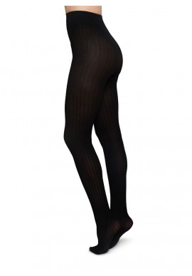 Strümpfe Swedish Stockings Alma Rib Tights black