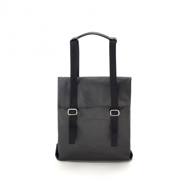 Qwstion Small Tote Organic Jet Black