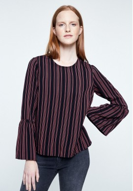 Blouse Armedangels Lorenaa Pair of Stripes black
