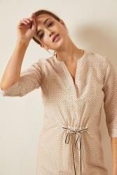 Kleid Lanius print dots beige