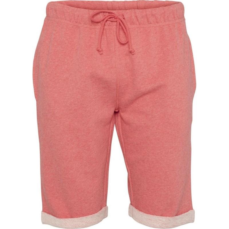 Melange Sweat Shorts Knowledge Cotton Apparel coral melange