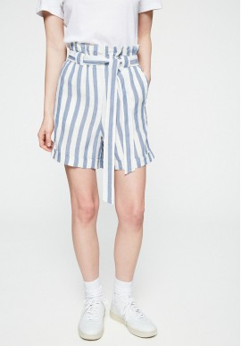 Shorts Armedangels Eliaa Block Stripes breeze blue-off white