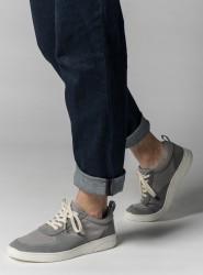 Melawear Fairtrade Sneakers Herren Leder grau