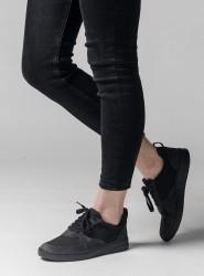 Melawear Fairtrade Sneakers Damen Leder anthrazit
