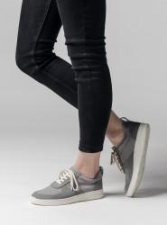 Melawear Fairtrade Sneakers Damen Leder grau