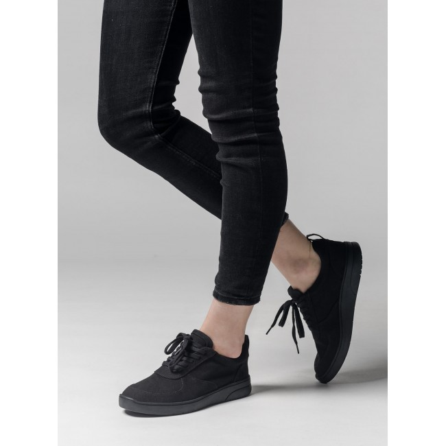 Melawear Fairtrade Sneakers Damen Leder all black
