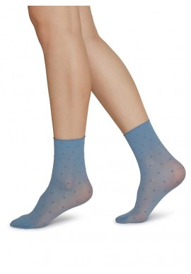 Swedish Stockings Judith Ankle Socks 2er Pack dusty blue/ivory dots