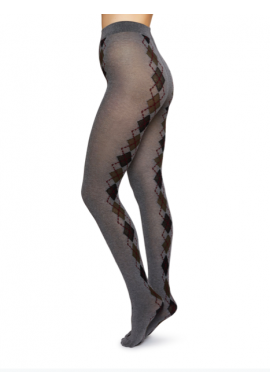 Strümpfe Swedish Stockings Kristina Bio-Cotton Tights argyle