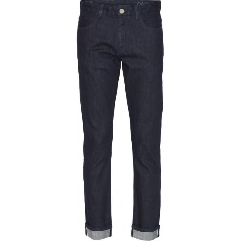 Jeans Knowledge Cotton Apparel Oak Selvedge Denim Blue Rinse