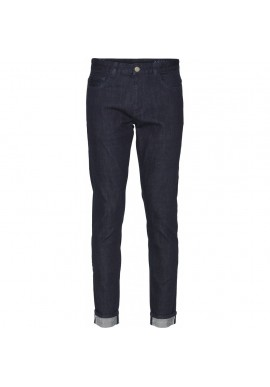 Jeans Knowledge Cotton Apparel Ash Selvedge Denim Blue Rinse