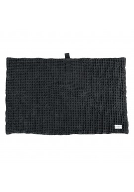 Badematte The Organic Company Big Waffle Bath Mat dark grey