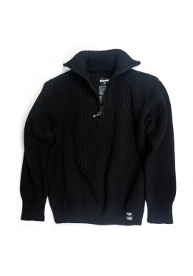 Rollkragen-Pullover Jackybeng The Seaman Sweater black