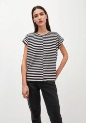 T-Shirt Armedangels Jaarin knitted Stripe kitt-black