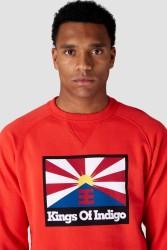 Sweatshirt Parnell Kings Of Indigo Rising Sun Flag red