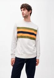 Sweatshirt Armedangels Yaarick Big Stripes ecru melange