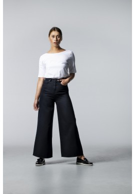Jeans Lovjoi Denim Barleria Wide Cropped black overdyed