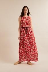 Maxi-Rock Lanius Tencel print flora red