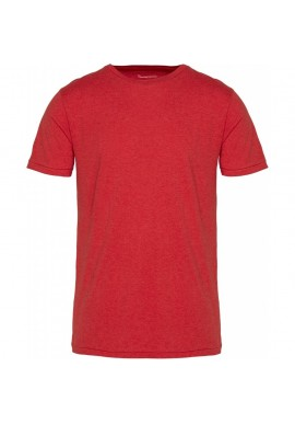 Basic-T-Shirt O-Neck Knowledge Cotton Apparel Alder scarlet melange