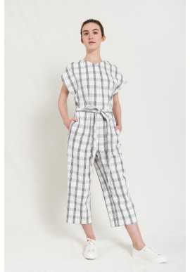 Overall Elsien Gringhuis Jumpsuit Cropped black and white checks