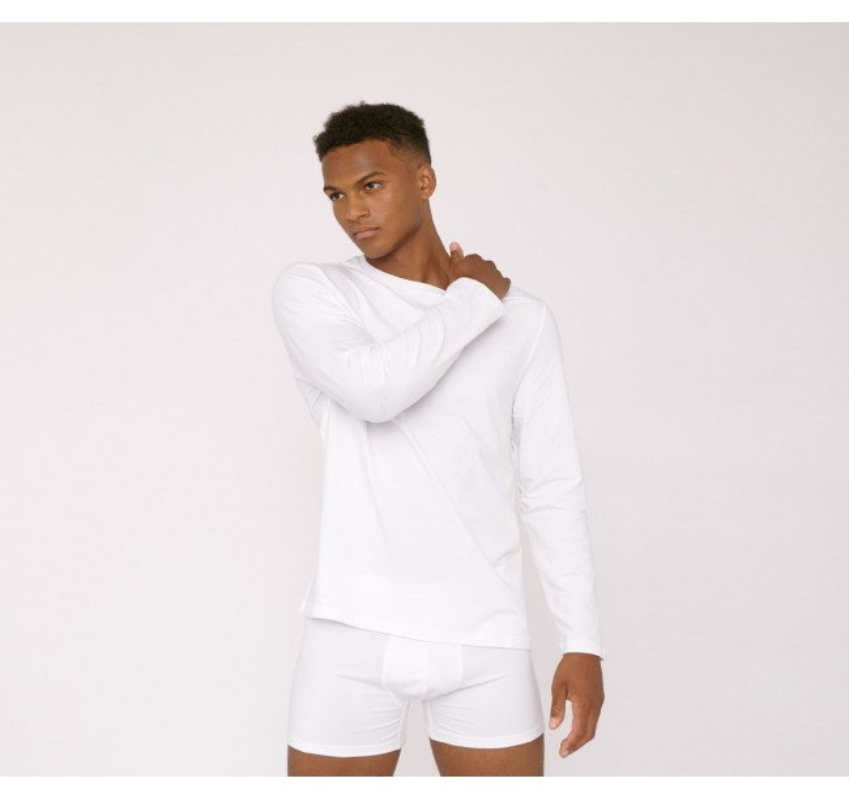 Longsleeve Organic Basics white