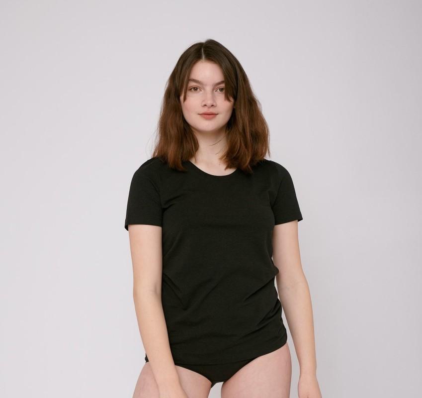Damen-Sportshirt Organic Basics SilverTech™ Wome's Tee black