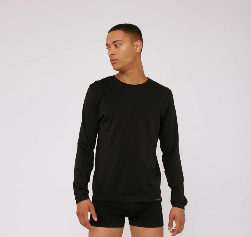Herrten-Sport-Longsleeve Organic Basics SilverTech™ Active Long-Sleeve black