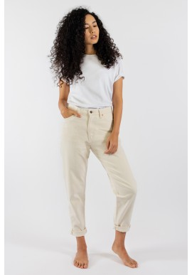 Damen-Jeans Kuyichi Nora Mom Fit Undyed Off White