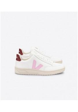 Veja V-12 Leather Extra White Parme Turquoise
