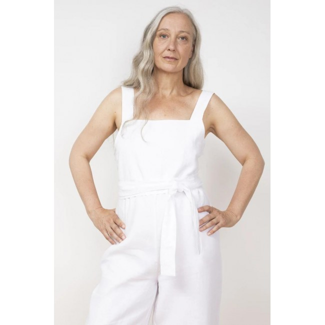 Overall Jungle Folk Juanita Jumpsuit white