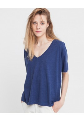 T-Shirt Thinking Mu Chloe Hemp blue