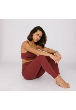 Sport-Leggings Organic Basics SilverTech™ Active Leggings burgundy