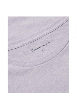 Basic Regular Fit O-Neck T-Shirt Knowledge Cotton Apparel Alder lavender melange