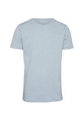 Basic Regular Fit O-Neck T-Shirt Knowledge Cotton Apparel Alder sky way melange