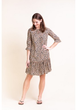Rock Elements of Freedom Puck Dress Leopard Flower