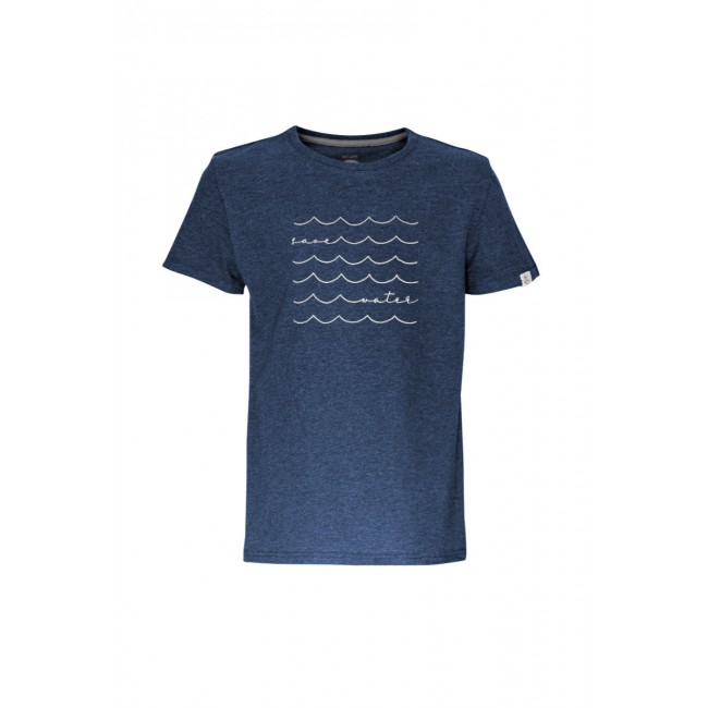 Kinder-T-Shirt ZRCL Save Water blue stone