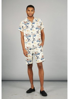 Short Komodo Bobby Pleat Bali Surf Print