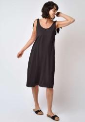 Kleid Lovjoi Dress Ribwort Midi anthracite