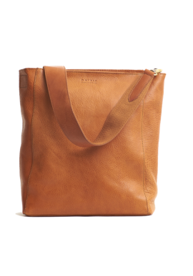 Leder-Shopper O My Bag Sofia Eco-Stromboli Leather cognac
